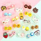 熊兔可愛水果透明PP盒隱形近視眼鏡伴侶盒雙聯盒美瞳盒 4個裝