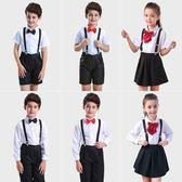 兒童小主持人花童禮服套裝夏男童演出服裝畢業服幼兒園朗誦錶演服【米拉生活館】