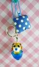 【震撼精品百貨】日本精品百貨-手機吊飾/鎖圈-茶犬系列-藍