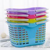 購物籃加厚大號超市塑料籃子收納筐買菜籃多功能大容量時尚簡約手提藍 KB8284【優品良鋪】