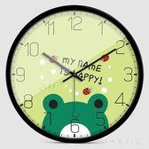 簡約靜音掛鐘可愛萌寵卡通個性創意客廳兒童房臥室石英鐘表 aj5865『小美日記』