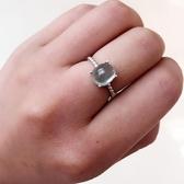 天然葡萄石戒指綠色葡萄石925純銀瑞麗女款