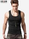 運動背心男士背心男純棉青年透氣運動健身修身型緊身無袖跨欄打底汗夏季潮快速出貨
