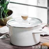 樹可琺瑯 日式4.2L大容量湯鍋搪瓷鍋家用加厚雙耳煲湯鍋電磁爐鍋