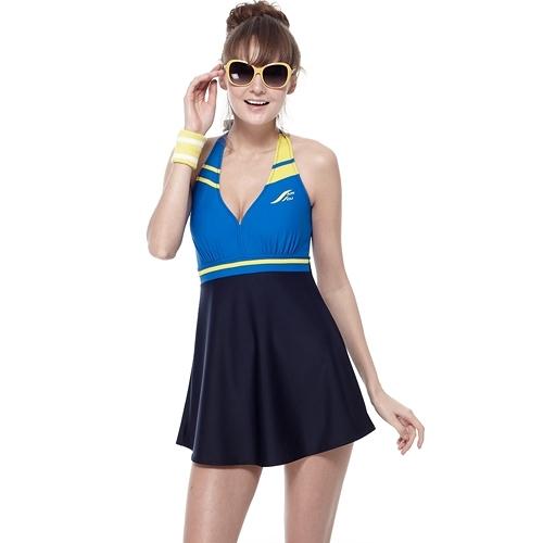 【南紡購物中心】【SAIN SOU】泡湯SPA二件式連身裙泳裝附泳帽A92610