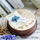 幸福森林.木製 發條式 選轉音樂盒 客製化禮物-挑戰世界 歐洲地圖