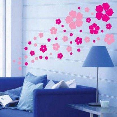 ►壁貼 花季客廳臥室電視沙發背景牆玻璃貼紙裝飾 可移除三代牆貼紙【A2017】