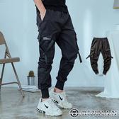 傘兵褲 高品質用料【OBIYUAN】工作褲 縮口褲 多口袋 休閒褲 長褲 共1色【Y0762】