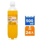 【免運/聯新貨運】金蜜蜂橘子口味汽水500ml(24瓶/箱)【合迷雅好物超級商城】 _02
