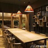 北歐現代簡約餐廳創意個性燈具鐵藝飯店復古理發店發廊小鑽石吊燈igo  潮流前線