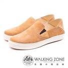 WALKING ZONE 可踩腳 牛皮樂福鞋休閒鞋 男鞋 - 棕(另有藍)