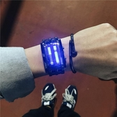 網紅新概念黑科技手錶男女學生韓版簡約潮流ulzzang夜發光電子錶