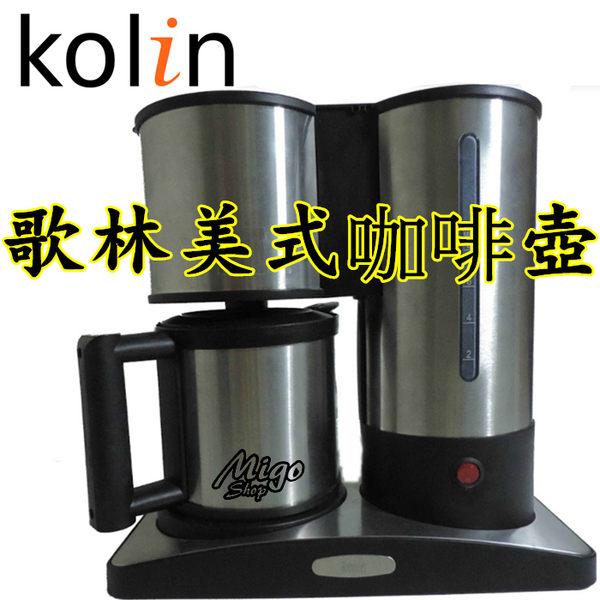 【歌林美式咖啡壺】CM-9001不鏽鋼儲水杯超溫保護裝置 原價1680