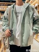 秋季新款男士工裝連帽外套ins韓版潮流寬鬆休閒學生春秋夾克男裝『快速出貨』