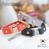 正韓方形設計感皮革真皮扣式手環【KAC431】璀璨之星☆