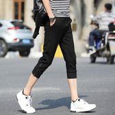 7分褲 韓版修身小腳運動休閒短褲 米蘭shoe
