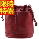 水桶包-可肩背經典流行皮革女側背包3色5...