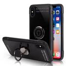 【默肯國際】IN7琉璃系列 iPhone X (5.8吋) 指環扣 支架玻璃手機殼 環保TPU 玻璃背板 立架 磁吸 保護殼