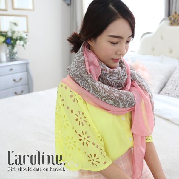 《Caroline》★甜美時尚百搭圍巾.韓國流行秋冬民族風圍巾 67122