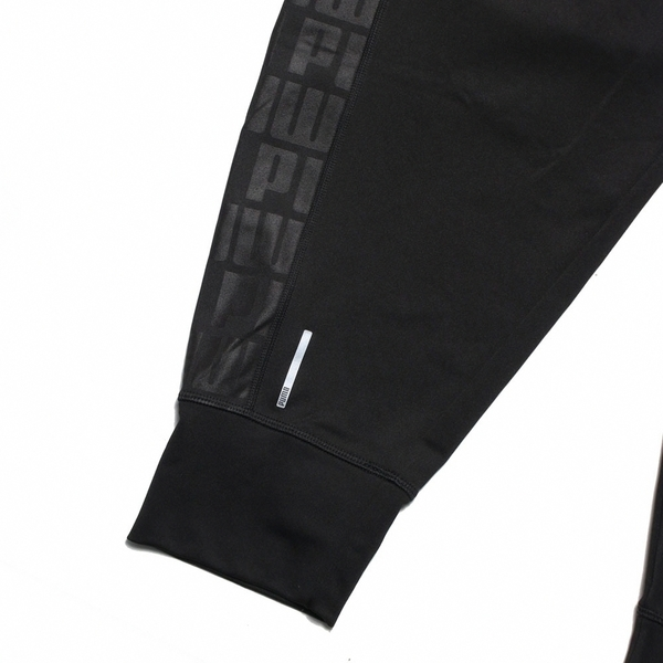 PUMA 長褲 運動褲 FEEL IT 全黑 銀LOGO 訓練 慢跑 女 (布魯克林) 51950601