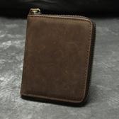 瘋馬皮皮夾(短夾)-簡約經典多功能復古男錢包2款73qs15【時尚巴黎】