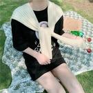 春秋季搭肩小披肩夏季空調房外搭韓版針織披肩打結圍巾女護頸圍脖