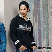 BIG TRAIN 日式潮流厚帽T-男-黑色