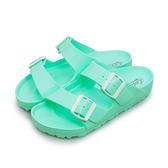 LIKA夢 LOTTO 馬卡龍雙扣環時尚輕量拖鞋 海灘拖鞋 室內、外拖鞋 薄荷綠 3805 女