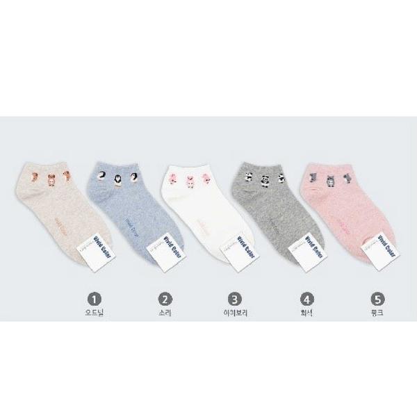 韓國俏皮動物造型踝襪-多款任選 (SOCK-037-WS)