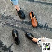 小皮鞋 2017春秋新款韓版女鞋原宿軟妹森系小皮鞋學院風百搭中跟單鞋女 聖誕慶免運