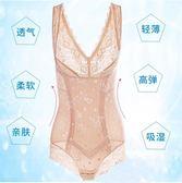 無痕收腹束腰連體塑身內衣服塑形美體衣超薄