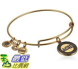 [美國直購] Alex and Ani Sorority Alpha Omicron Pi Expandable Wire Bangle Bracelet 手鐲
