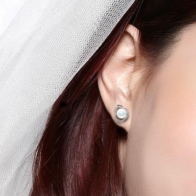 天然珍珠耳環 8mm D&D 品牌精品 小慈心  時光系列