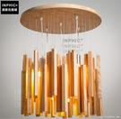 INPHIC- 北歐現代簡約創意個性木頭吊燈日式簡約陽臺飄窗風鈴實木木條吊燈_S197C