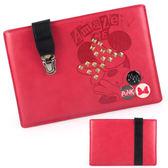 【Disney 】時尚書包扣鉚釘搖滾米妮8吋通用平板保護包