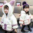 01嬰兒童秋冬裝2歲女童洋氣毛毛衣3女寶寶刷毛外套4小孩加厚棉衣5新年鉅惠