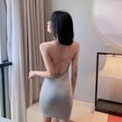 夜店女裝網紅主播衣服氣質夜總會性感洋裝氣質抹胸吊帶裙帶胸墊夜店女裝