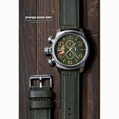 女郎彩繪 elegantsis JF48QS機頭藝術計時手錶-綠/48mm ELJF48QS-OG03LC