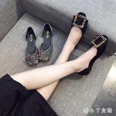 單鞋女2018新款夏韓版女鞋鞋子淺口時尚百搭平底鞋 XW2242【潘小丫女鞋】