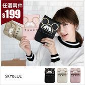手機袋-卡通圖樣鉚釘斜背手機袋-共3色-(特價品)-A17171116-天藍小舖