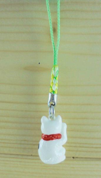 【震撼精品百貨】招財貓_招き猫~招財貓手機吊飾/繩-左招手