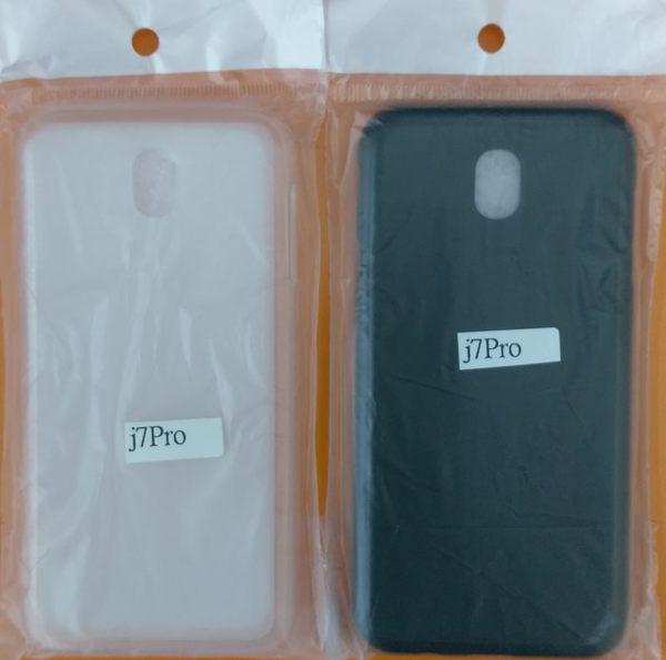 【台灣優購】全新 SAMSUNG Galaxy J7 Pro.J730G 手機專用保護軟套 清水套 / 透明黑 透明白~優惠價59元