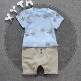 童裝夏裝套裝嬰幼兒童衣服0-5歲男童夏天短袖