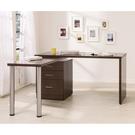 【森可家居】艾美胡桃4.8尺旋轉功能桌(不含椅) 9HY501-02 L型書桌辦公桌 MIT 台灣製造
