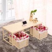 和室几桌簡約實木日式草編藤編榻榻米茶几桌陽台小飄窗學習電腦桌子xw