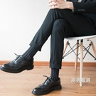 西裝襪 西裝皮鞋襪子男黑色商務秋季長筒薄款英倫正裝男士西褲長襪高腰