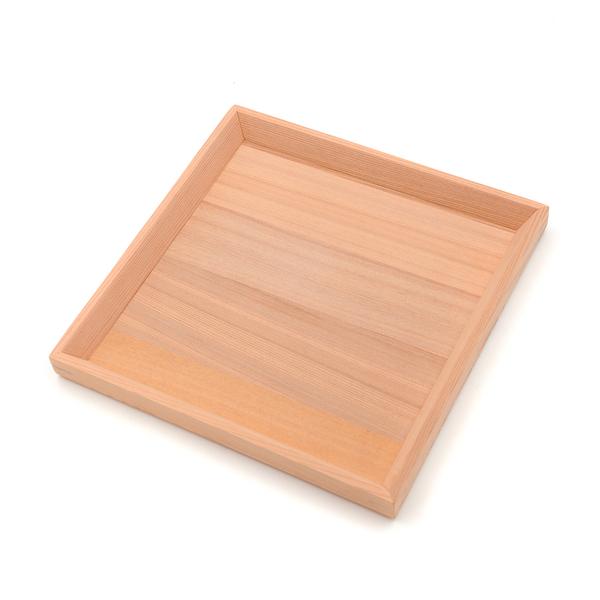 芬多森林|台灣檜木多用途托盤-正方形,原木無上漆小物收納,有智慧居家生活全實木淺盤子