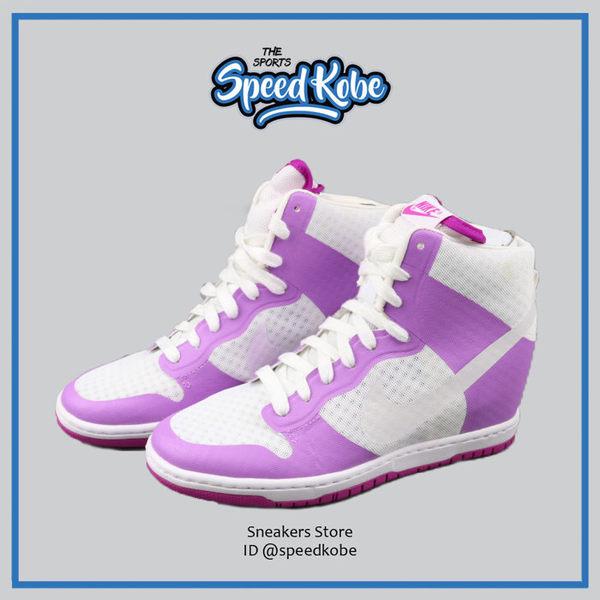 NIKE WMNS DUNK SKY HI 2.0 BR 呼吸 白紫 內增高 楔形鞋 # 725069-102 ☆SP☆