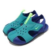 Nike 涼鞋 Sunray Protect 2 TD 藍 綠 童鞋 小童鞋 運動鞋 魔鬼氈 小朋友 【PUMP306】 943827-303