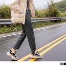 《BA5905》休閒寬鬆綁帶腰鬆緊造型褲管長褲 OrangeBear